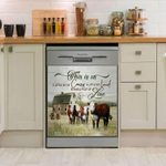 Hereford Cattle This Is Us Pattern Dishwasher Cover Sticker Kitchen Decor
