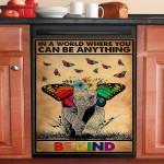 Lgbt Be Kind Pride Elephant Dishwasher Cover Sticker Kitchen Decor