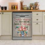 Hummingbird Everyday Is A New Beginning Dishwasher Cover Sticker Kitchen Decor