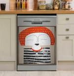 Funny Face Stripe T-shirt Dishwasher Cover Sticker Kitchen Decor
