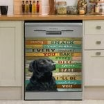I Will Be Watching You Dog Dishwasher Cover Sticker Kitchen Decor