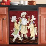 Funny Chef Dishwasher Cover Sticker Kitchen Decor