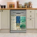 Surfer Knowledge Sport Lovers Dishwasher Cover Sticker Kitchen Decor