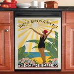 The Ocean Is Calling Dishwasher Cover Sticker Kitchen Decor