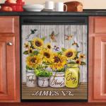 Today I Choose Joy Hummingbird Sunflower Dishwasher Cover Sticker Kitchen Decor