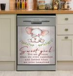 Sweet Girl You Are Better Than We Ever Imagined Elephant Dishwasher Cover Sticker Kitchen Decor