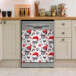 Skull Snowflakes Christmas Dishwasher Cover Sticker Kitchen Decor