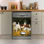 West Highland White Terrier Dishwasher Cover Sticker Kitchen Decoration