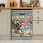 Sloth Let Your Smile Dishwasher Cover Sticker Kitchen Decor