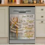Dragonfly Don't Want For The Perfect Moment Dishwasher Cover Sticker Kitchen Decor