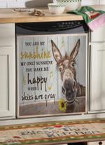 Donkey Happy You Are My Sunshine Dishwasher Cover Sticker Kitchen Decor