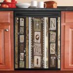 Family Home Nest Dishwasher Cover Sticker Kitchen Decor