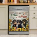 Dachshund I Choose Happpy Dishwasher Cover Sticker Kitchen Decor