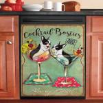 Cocktail Bosties Dishwasher Cover Sticker Kitchen Decor