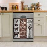 Farm Animal Bless This Home And All Who Enter Dishwasher Cover Sticker Kitchen Decor