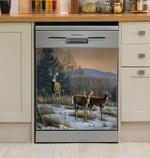 Deer Hunting Prime Time Dishwasher Cover Sticker Kitchen Decoration
