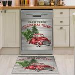 Farm Fresh Christmas Tree Trucker Dishwasher Cover Sticker Kitchen Decor