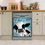 Daisy Cow Till The Cows Come Home Dishwasher Cover Sticker Kitchen Decor