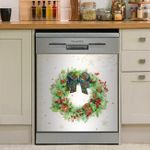 Christmas Wreath Dishwasher Cover Sticker Kitchen Decor