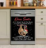 Dear Santa All I Want Is A Fat Bank Account Dishwasher Cover Sticker Kitchen Decor