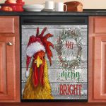 Chicken May Your Days Be Merry Dishwasher Cover Sticker Kitchen Decor