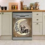 Elephant Love You To The Moon And Back Dishwasher Cover Sticker Kitchen Decor