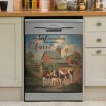 Cow The Best Memories Are Made On The Farm Dishwasher Cover Sticker Kitchen Decor