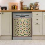 Dreamy Pattern Dragonfly Dishwasher Cover Sticker Kitchen Decor