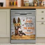 Donkey Butterfly Let Your Smile Change The World Dishwasher Cover Sticker Kitchen Decor