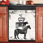 Farm Animals Black And White Dishwasher Cover Sticker Kitchen Decor