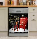 Dachshund Believe Santa Gift For Dachshund Lover Dishwasher Cover Sticker Kitchen Decor