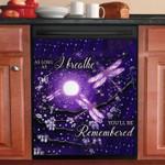 Dragonfly Purple Galaxy Pattern Dishwasher Cover Sticker Kitchen Decor