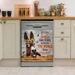 Donkey Change Your Smile Dishwasher Cover Sticker Kitchen Decor