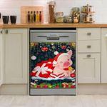Cute Pig Christmas Dishwasher Cover Sticker Kitchen Decor