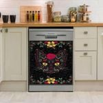 Day Of The Dead Kitty Cat Dishwasher Cover Sticker Kitchen Decor
