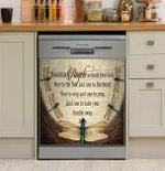 Family Five Dragonflies Dishwasher Cover Sticker Kitchen Decor