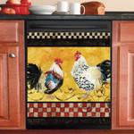 Farm Two Chicken Pattern Dishwasher Cover Sticker Kitchen Decor