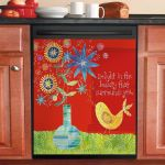 Delight In The Beauty That Surrounds You Dishwasher Cover Sticker Kitchen Decor