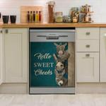 Donkey Hello Sweet Cheeks Dishwasher Cover Sticker Kitchen Decor