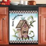 Cute Prim Bird House Home Tweet Home Dishwasher Cover Sticker Kitchen Decor