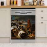 Chicken Family At Night Dishwasher Cover Sticker Kitchen Decor