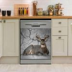 Deer Lying Hunting Pattern Dishwasher Cover Sticker Kitchen Decor