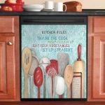 Cooking Utensils Kitchen Rules Thank The Cook Dishwasher Cover Sticker Kitchen Decor