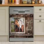 Farm Horse So Together We Built A Life We Loved Dishwasher Cover Sticker Kitchen Decor