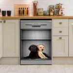 Cutie Labrador Retriever Dishwasher Cover Sticker Kitchen Decor