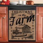 Christmas On The Farm Vintage Dishwasher Cover Sticker Kitchen Decor