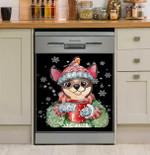 Chihuahua Warm Winter Christmas Dog Lover Dishwasher Cover Sticker Kitchen Decor