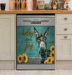 Donkey Today I Choose Joy Dishwasher Cover Sticker Kitchen Decor