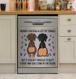 Dog Money Can Buy A Lot Of Things Dishwasher Cover Sticker Kitchen Decor