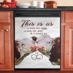 Cow This Is Us Dishwasher Cover Sticker Kitchen Decor